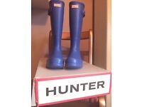 Size 7 men's cobalt blue hunter wellies