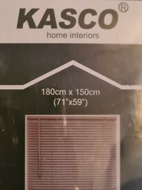 Brand new still in package. pvc grey blind