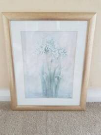Flower Picture in Gold Frame