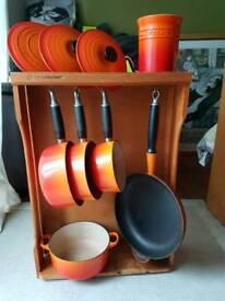 Le Creuset Cast Iron set