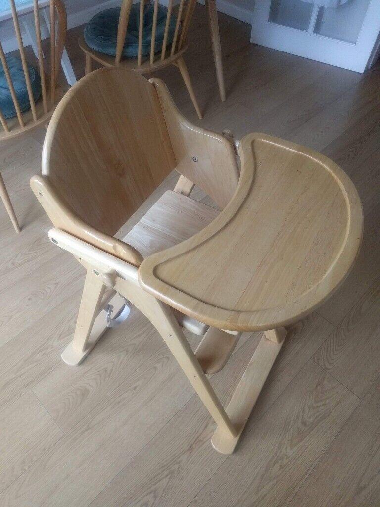 East Coast Wooden Folding Highchair (Natural) | in Portishead, Bristol | Gumtree
