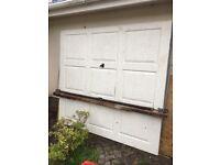Garage door single Fibre glass good condition 7 ft wide 6ft 6 high approx