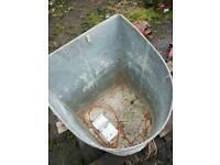 antique feed bin
