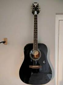 Epiphone pro plus one acustic guitar ,2 bought in January in as new condition