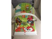 Fisher Price Woodland Creatures Vibrating Baby Seat