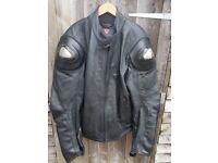 dainese titanium leather jacket size 58 euro 48 uk