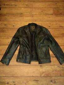 Mens leather jacket medium