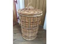 Lovely Chunky Wicker Laundry Basket