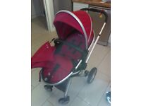 Silvercross Surf 1 pushchair, carrycot, car set and isofix base