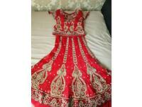 Red lehnga