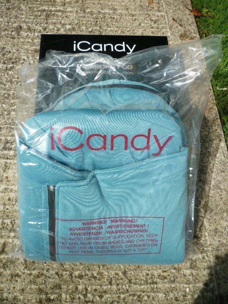 icandy Raspberry Stroller Newborn Pod-Atlantic Green Colour-Brand New-Still Boxed-Duplicate Gift
