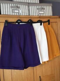 3 Pair Of Ladies Shorts - Longer (Knee Length) Style