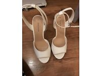 White Platform New Look Heels