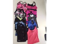 Jazzercise tops x10 & two black shorts