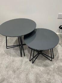 ** BRAND NEW ** Maddox Nest Of Tables Stylish Glossy Grey