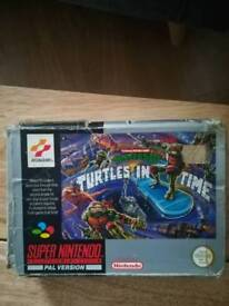 Super Nintendo Turtles in time complete