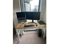 IKEA Hemnes Desk (white/oak colour)