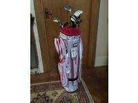 Ladies Golf Clubs and Bag. Adams clubs/ Cleveland Bag