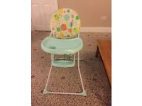 Baby high chair in good condition