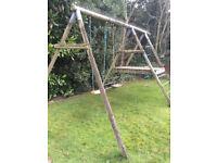 Adventure playframe swing set