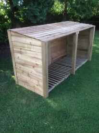 New 6ft rustic log store