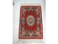 Red wool rug (No 8)