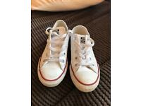 White leather converse kids size 13
