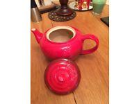 Lucreuset Stoneware Classic Red Teapot
