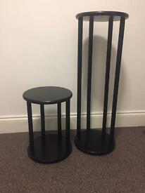 Tall & Short Wooden Plant stands