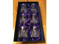 ROYAL DOULTON - SET OF 6 FINEST CRYSTAL TUMBLER GLASSES