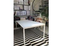 2 white metal studio desk frames - can be sold together or individually