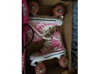 LA Sports Pink Girls Quad Skates