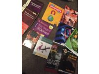 GCSE text and guide books years 10/11 various subjects