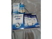 Brand new avent baby bottles