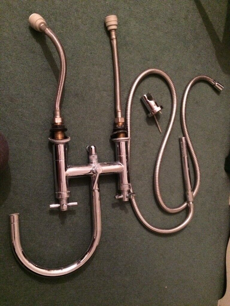 Hudson Reed Bath Shower Mixer Tap With Flexi Pipes