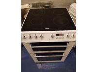 White 60cm ceramic cooker is in perfect working order and in good condition