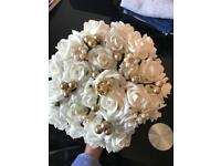 Ivory and gold wedding bouquet