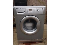 Beko washing machine in silver