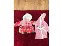 Ted Baker coat and Peppa Pig Dressing Gown age 2-3
