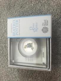 Peter Rabbit 2018 Silver Proof 50p
