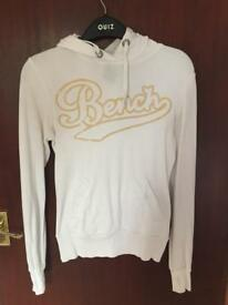 White bench hoodie size small