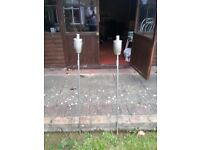 Garden spike and table top burners