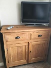 Solid teak cabinets x2