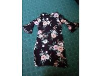 Women's Black Floral Dress size 12