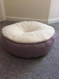 Brand New Lilac & Cream Cat Bed from Pets at Home
