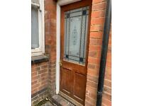 Wooden exterior door FREE for collection only.