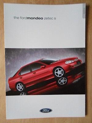 FORD MONDEO ZETEC S 2000 UK Mkt sales brochure