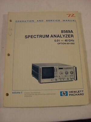 Vtg Manual - Hewlett Packard Hp 8569a Spectrum Analyzer 0.01-40ghz Operating
