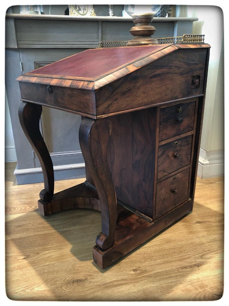 Beautiful Antique Victorian Rosewood Davenport Writing Table Desk