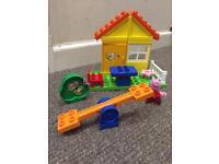 NEW Unused Peppa Pig Duplo Lego garden set.
